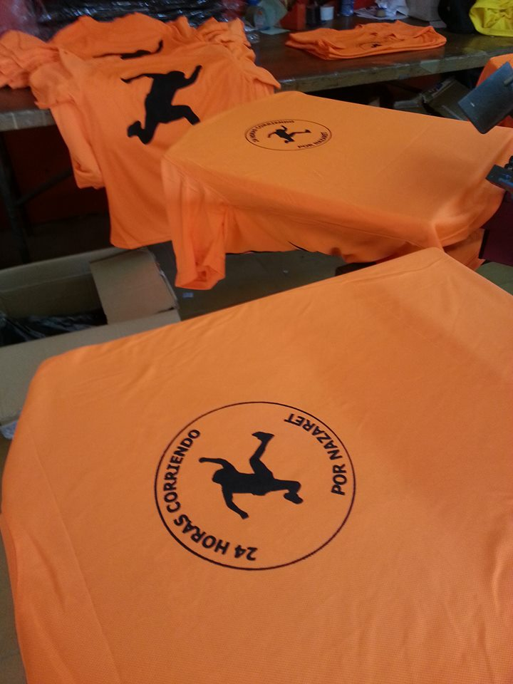 camisetas corriendo por nazaret